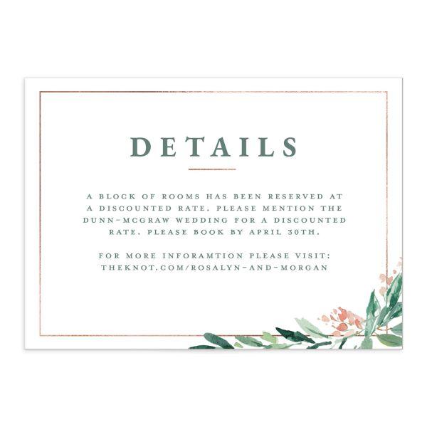 Gilded Botanical Enclosure Cards