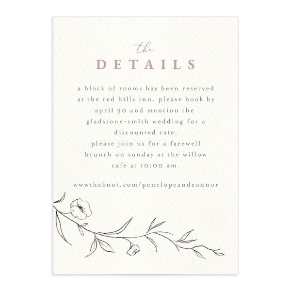 Graceful Botanical Wedding Enclosure Cards