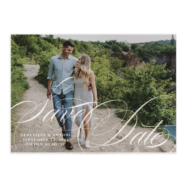 Elegant Photograph Save The Date Cards