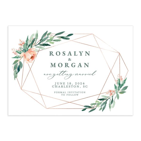 Gilded Botanical Save The Date Cards