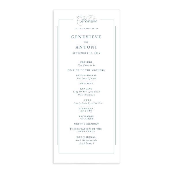 Elegant Photograph Wedding Programs