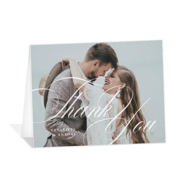 Elegant Photograph Thank You Cards