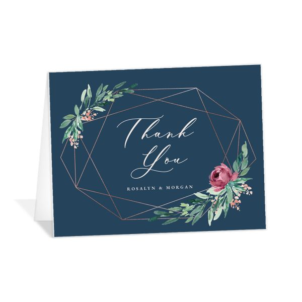 Gilded Botanical Thank You Cards