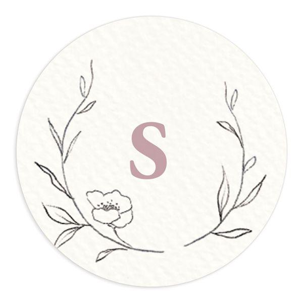Graceful Botanical Wedding Stickers