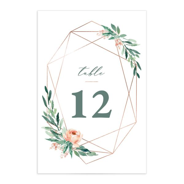 Gilded Botanical Table Numbers