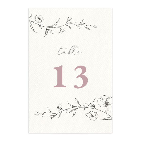 Graceful Botanical Table Numbers