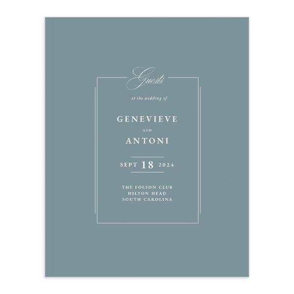 Elegant Photograph Wedding Guest Book