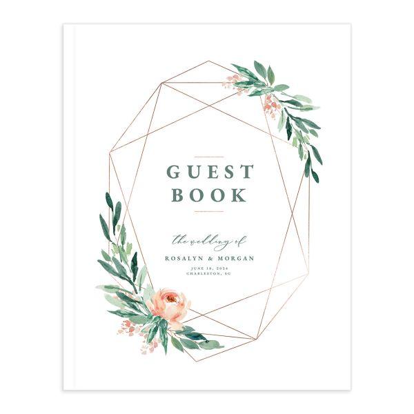 Gilded Botanical Wedding Guest Book