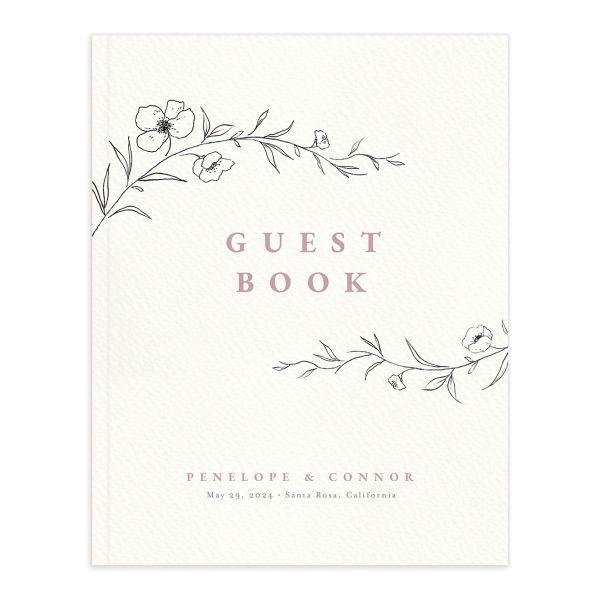 Graceful Botanical Wedding Guest Book
