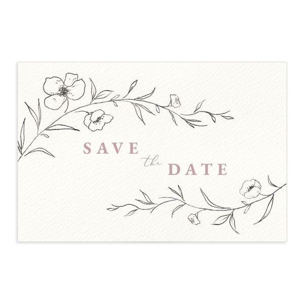 Graceful Botanical Save The Date Postcards