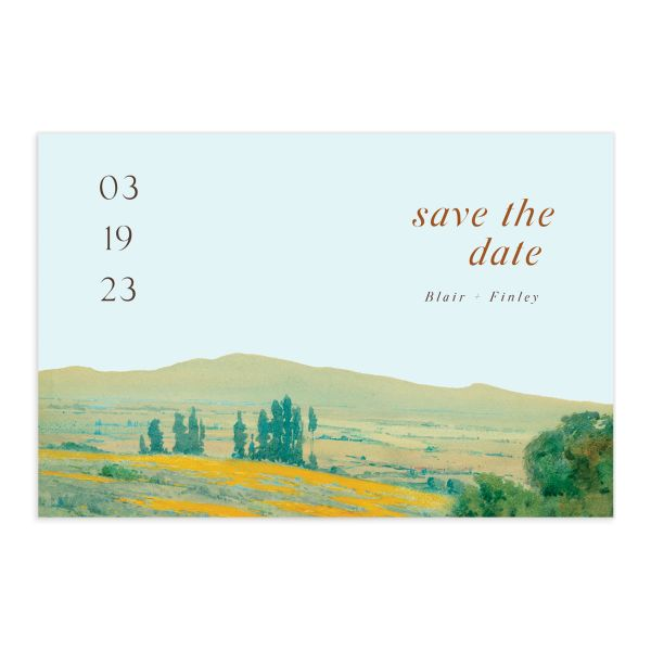 Modern Meadow Save The Date Postcards