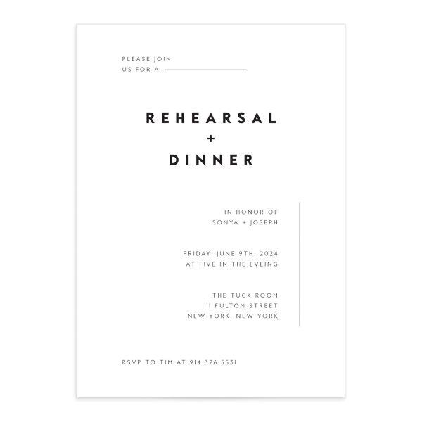 Simply Modern Rehearsal Dinner Invitations