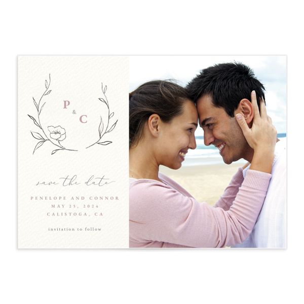 Graceful Botanical Save The Date Cards