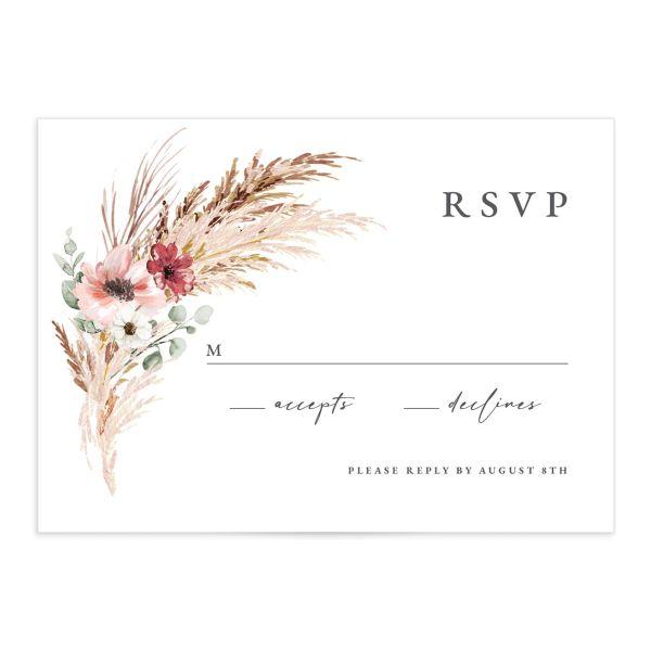 Bohemian Hoop Wedding Response Cards