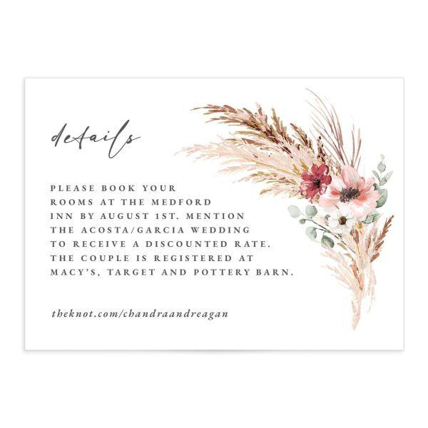 Bohemian Hoop Wedding Enclosure Cards