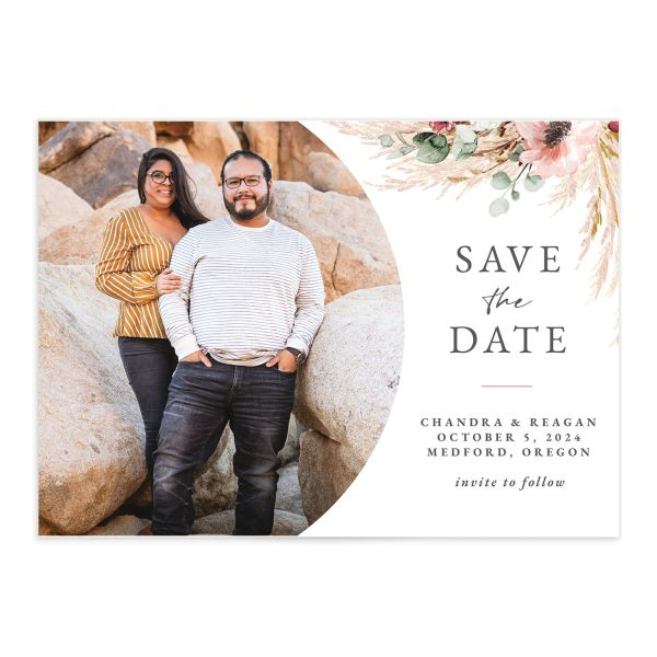 Bohemian Hoop Save The Date Cards