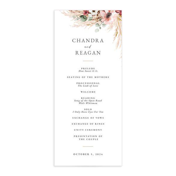 Bohemian Hoop Wedding Programs
