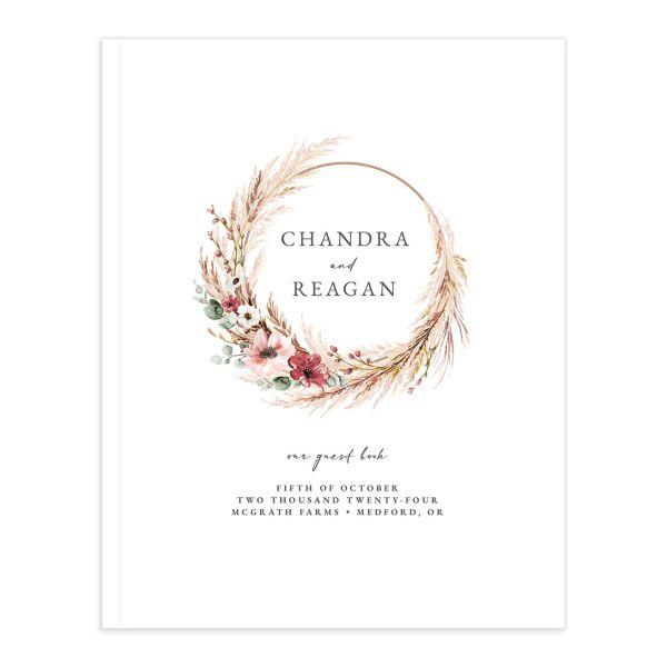 Bohemian Hoop Wedding Guest Book