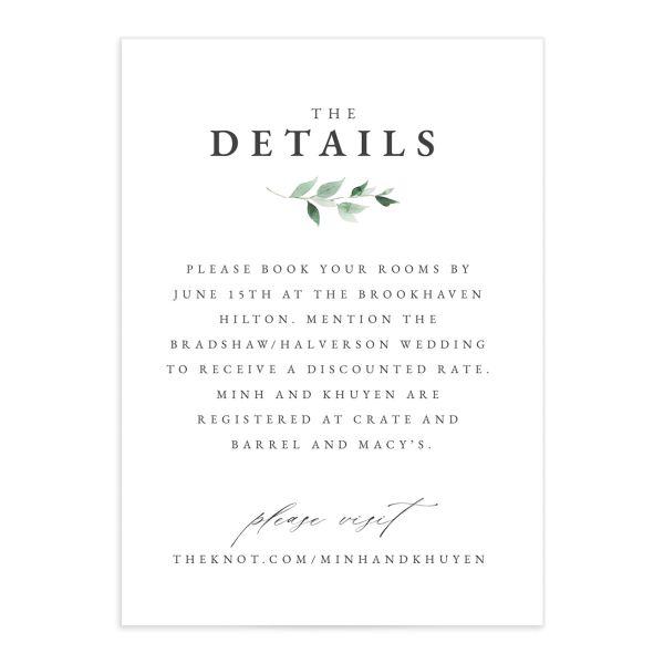 Romantic Wisteria Wedding Enclosure Cards
