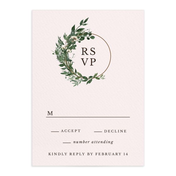Leafy Hoops Wedding Response Cards