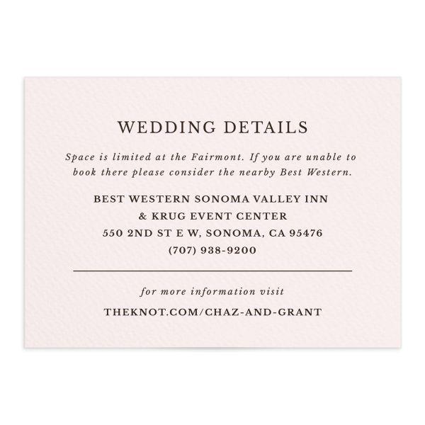 Leafy Hoops Wedding Enclosure Cards