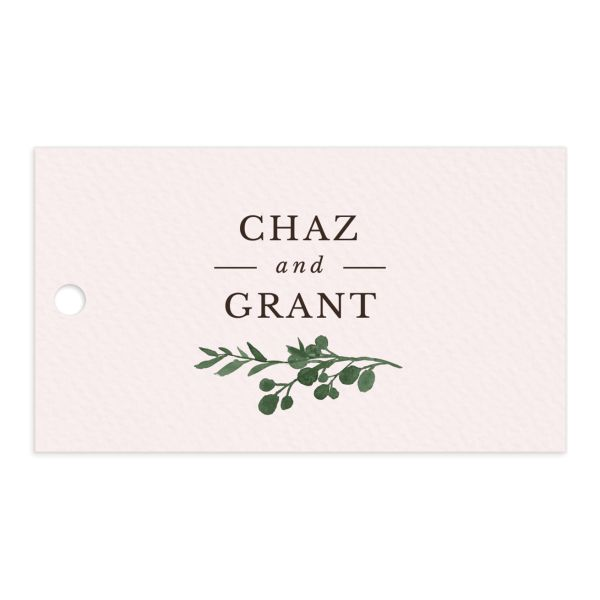 Leafy Hoops Favor Gift Tags