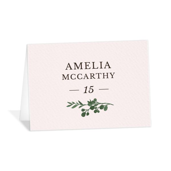 Leafy Hoops Place Cards