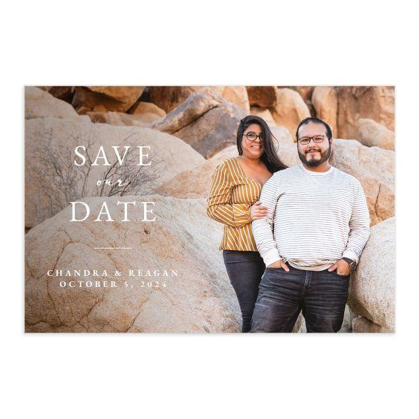 Bohemian Hoop Save The Date Postcards